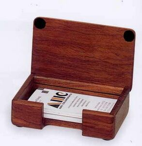 Rosewood Business Card Holders