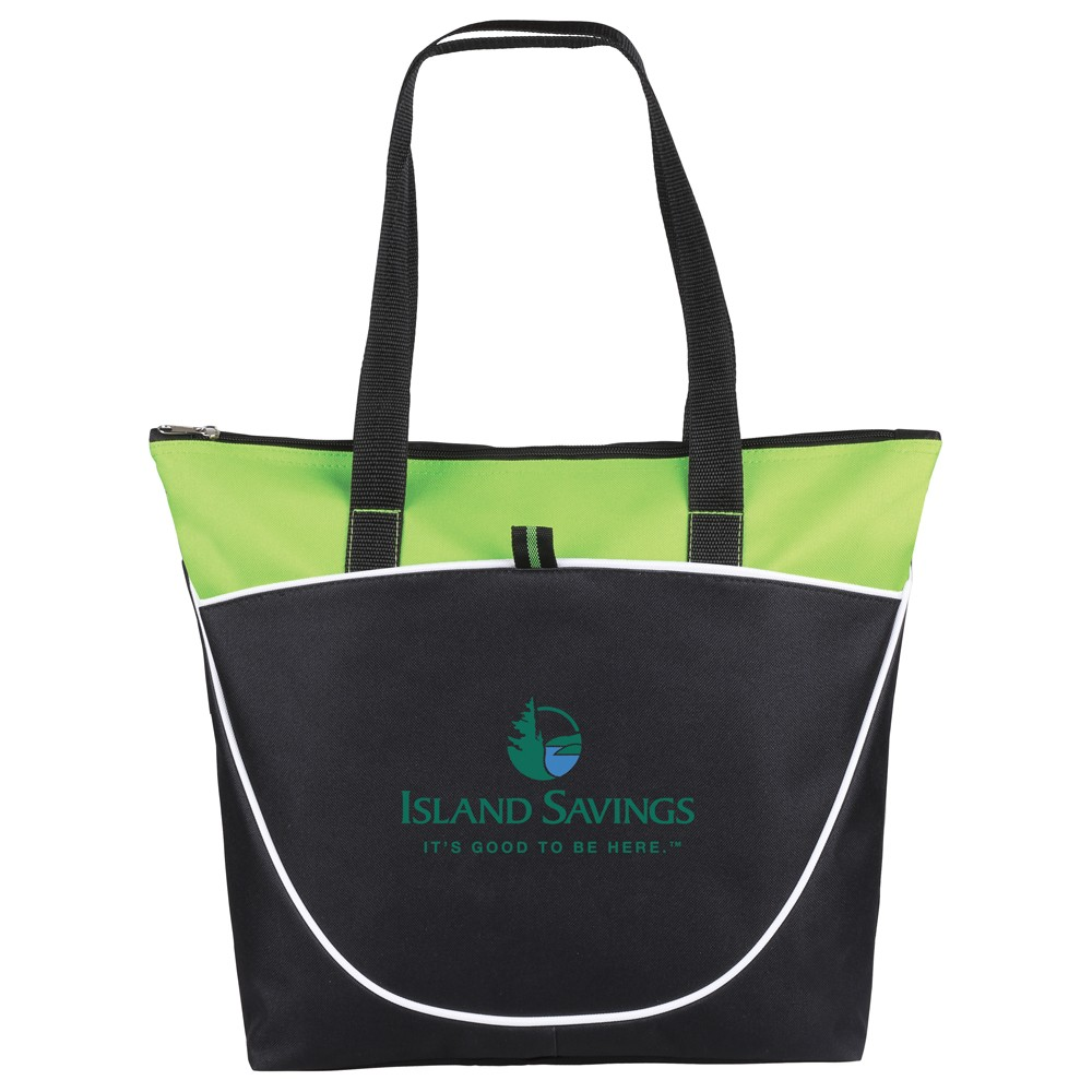 Hermosa Zippered Poly Canvas Tote